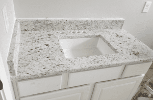 Custom Bathroom Counters - small custom bathroom granite counter