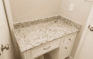 Custom Bathroom Counters - simple custom granite bathroom counter