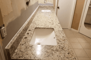 Custom Bathroom Counters - custom his and hers granite vanity