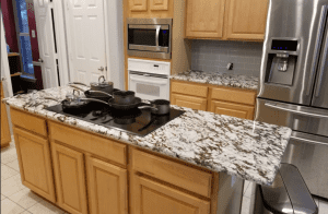Custom kitchen counters - custom granite counters installed by King's Granite and Marble