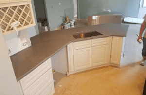 Custom kitchen counters - installation process of King's Granite & Marble