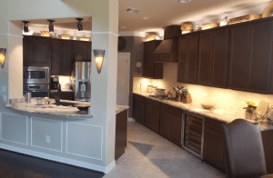Custom kitchen counters - beautiful kitchen with custom granite counters and custom cabinets