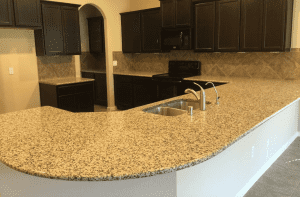 Custom kitchen counters - custom fitted granite counters