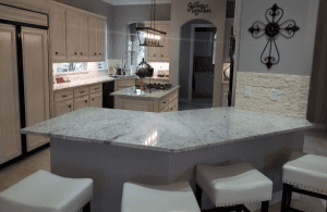 Custom kitchen counters - beautiful custom marble kitchen countertops