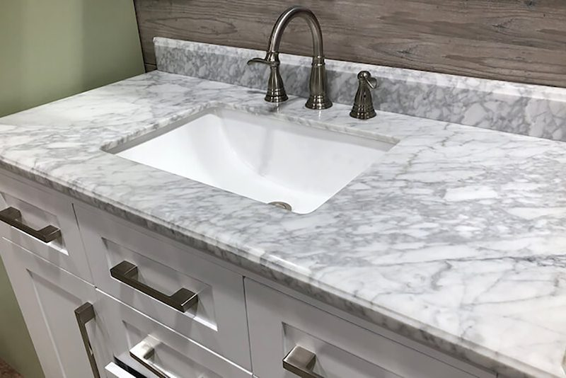 Custom bathroom marble countertops