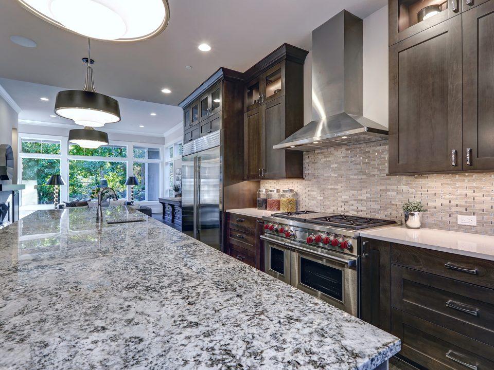 Custom hand cut granite countertops