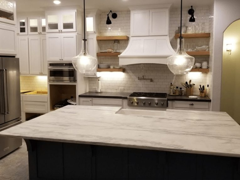 custom granite kitchen countertops fabricated and installed by King's Granite & Marble